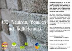 Informatie en praktijkavond CO2 neutraal bouwen met kalkhennep!